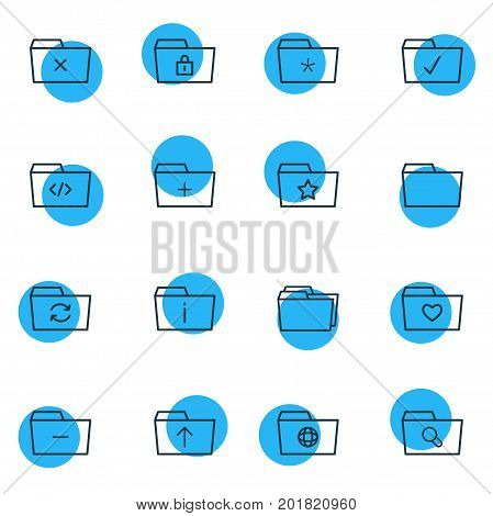 Editable Pack Of Significant, Dossier, Done And Other Elements.  Vector Illustration Of 16 Dossier Icons.