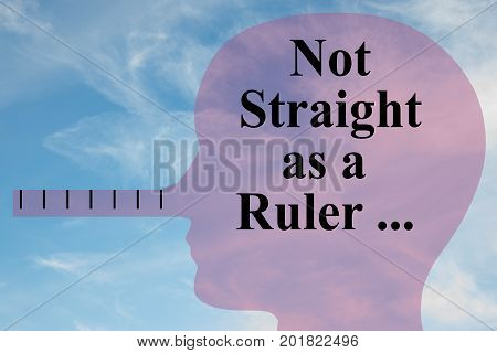 Not Straight As A Ruler Concept