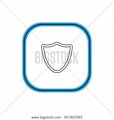 Beautiful Web Element Also Can Be Used As Safeguard Element.  Vector Illustration Of Shield Outline.