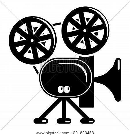 Video camera icon. Simple illustration of video camera vector icon for web