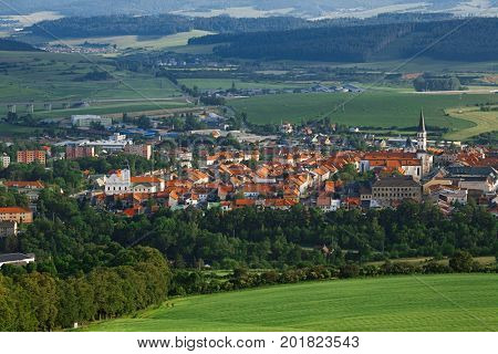 Levoca historic town,  Slovakia, Europe. view from the hills