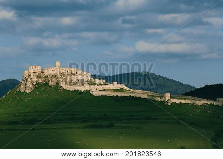 Spis castle on the hill, unesco World Heritage Site,   Slovakia