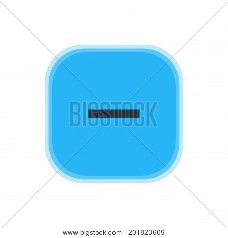 Beautiful Member Element Also Can Be Used As Minus  Element.  Vector Illustration Of Remove Icon.