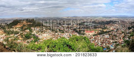 Panorama Of Antananarivo Capital Of Madagascar