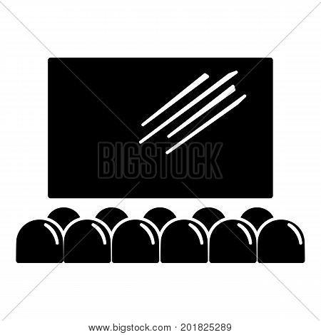 Movie theater screen icon. Simple illustration of movie theater screen vector icon for web