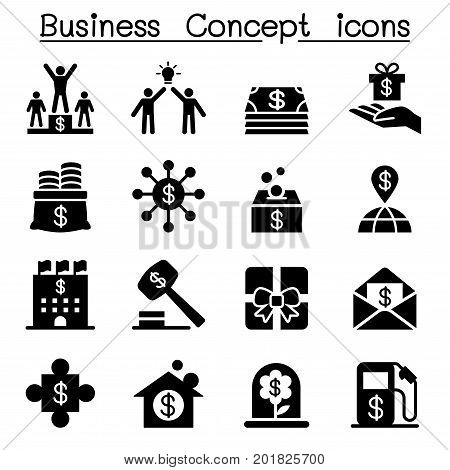 Business concept icons set vector illustration graphic design