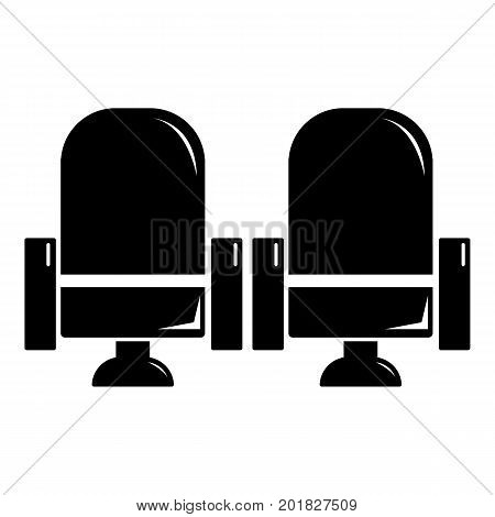 Seat theater icon. Simple illustration of seat theater vector icon for web