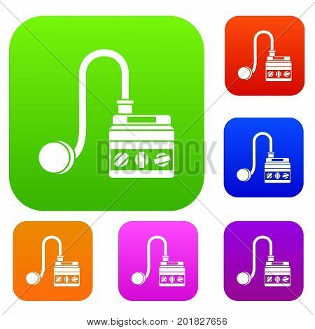 Detonator set icon in different colors isolated vector illustration. Premium collection