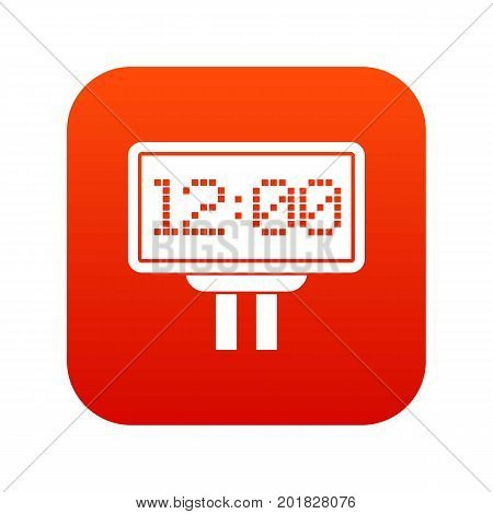 Scoreboard icon digital red for any design isolated on white vector illustration