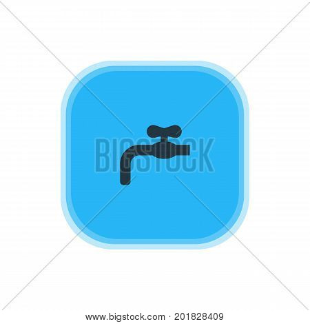 Beautiful Kitchenware Element Also Can Be Used As Faucet Element.  Vector Illustration Of Waterworks Icon.