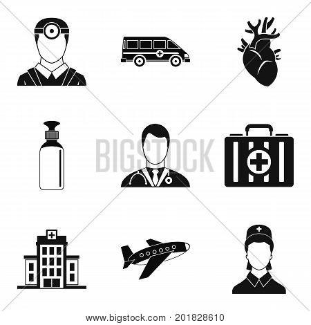 Arrhythmia icons set. Simple set of 9 arrhythmia vector icons for web isolated on white background