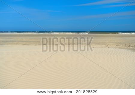 Landscape with empty beach