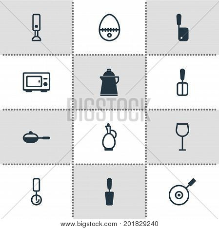 Editable Pack Of Pan, Breakfast, Spatula And Other Elements.  Vector Illustration Of 12 Restaurant Icons.