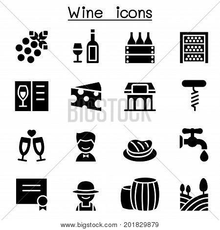 Wine icons set vector illustration graphic design