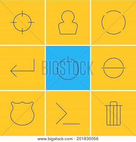 Editable Pack Of Garbage, Startup, Remove And Other Elements.  Vector Illustration Of 9 Interface Icons.