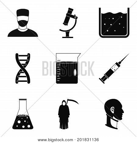 Bruise icons set. Simple set of 9 bruise vector icons for web isolated on white background