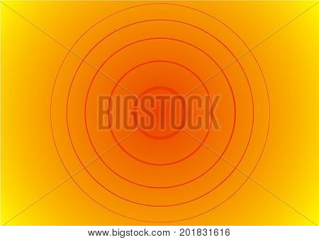 Rectangular gradient background with radiating concentric circles. Vector multicolored blurred backdrop. Design for web, mobile applications, covers, card, infographic, banners and social media.
