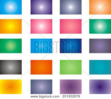 Rectangular gradient background. Colorful. Set of vector multicolored blurred backdrops. Design for web, mobile applications, covers, illustration, business card, infographic, banners and social media