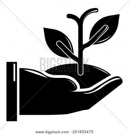 Hand sprout icon. Simple illustration of hand sprout vector icon for web