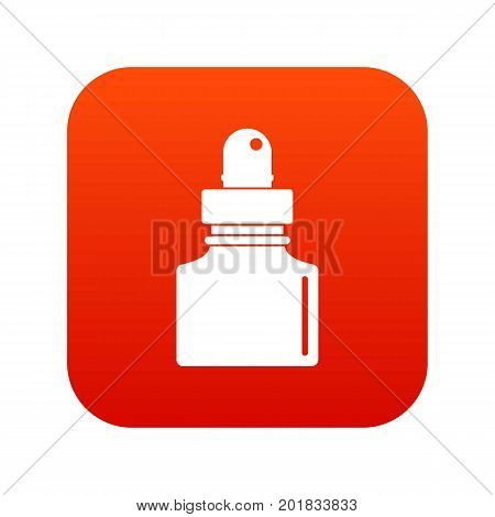 Black inkwell icon digital red for any design isolated on white vector illustration