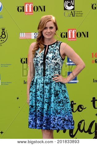 Giffoni Valle Piana Sa Italy - July 18 2017 : Amy Adams at Giffoni Film Festival 2017 - on July 18 2017 in Giffoni Valle Piana Italy