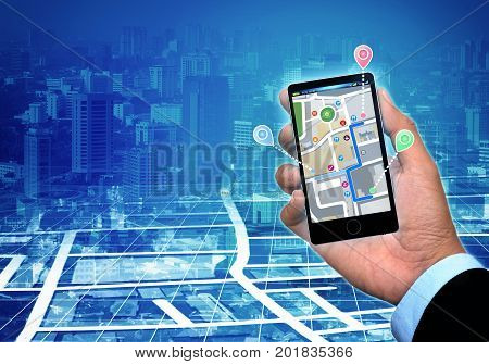 The concept of Global Positioning system and local street map