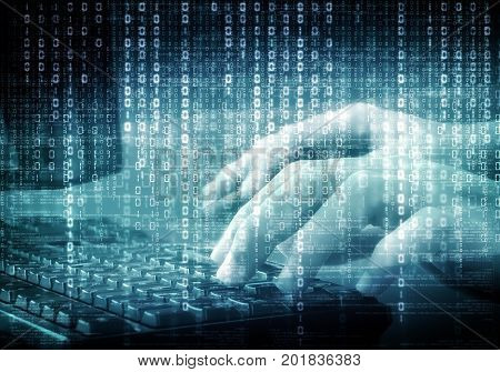 Conceptual image of internet virtual data programming