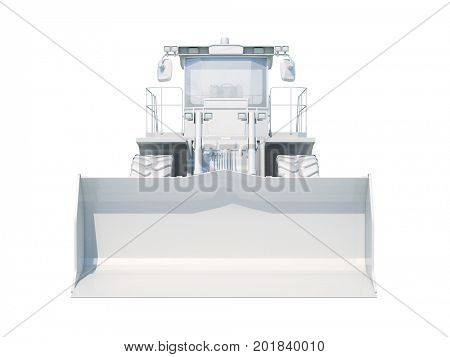 3d Render: ISOLATED ON WHITE Special Machines for the Construction Work, Special Equipment, Road Repair