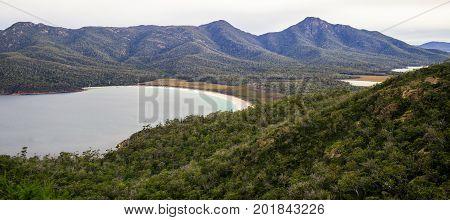 Wineglass Bay Beach Located In Freycinet National Park, Tasmania.