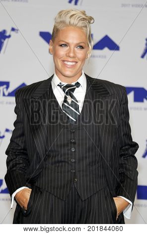 Pink at the 2017 MTV Video Music Awards held at the Forum in Inglewood, USA on August 27, 2017.