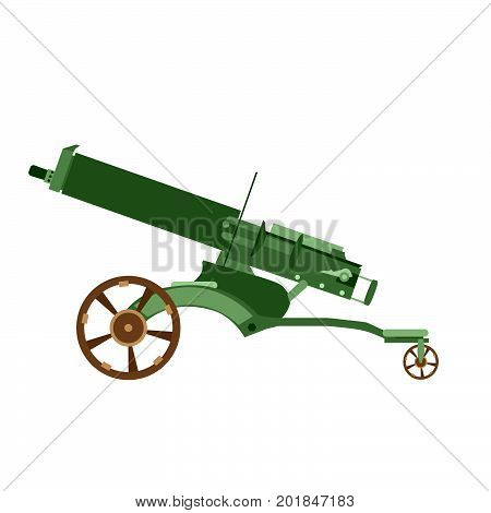 Cannon artillery gun vector war old army weapon military illustration ancient icon battle isolated