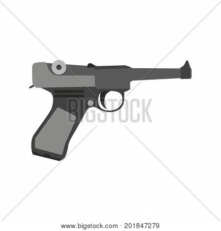 Gun retro vector vintage cowboy art gangster illustration revolver man design pistol mafia weapon