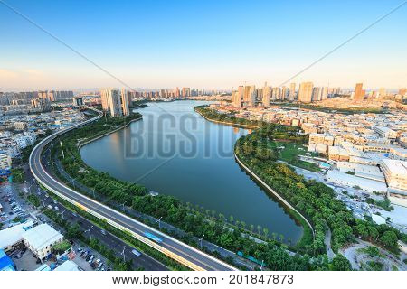 Xiamen lakeside reservoir, lakeside Garden In China