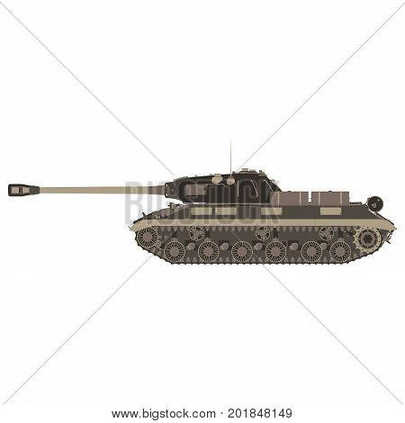 Tank military army vector war illustration icon machine background isolated tanking transport