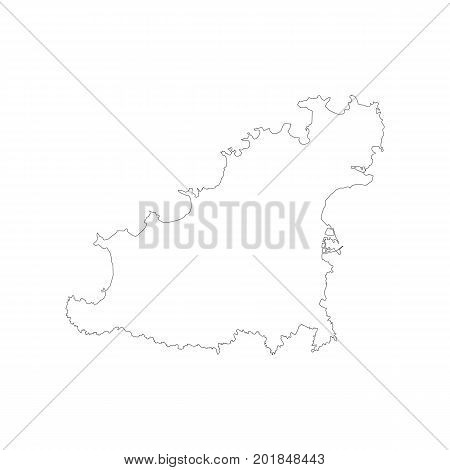 Bailiwick of Guernsey map on the white background. Vector illustration