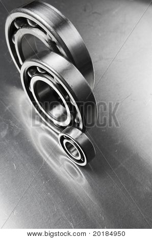 ball-bearings against aluminum