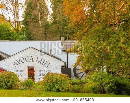 AVOCA, IRELAND - NOVEMBER 07, 2013: Avoca Handweavers weaving mill in Ireland. Oldest extant manufacturer in Ireland and one of the world's oldest. Avoca Village, Wicklow, Ireland