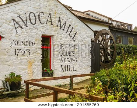 AVOCA, IRELAND - NOVEMBER 07 2013: Avoca Handweavers weaving mill in Ireland. Oldest extant manufacturer in Ireland and one of the world's oldest. Avoca Village, Wicklow, Ireland