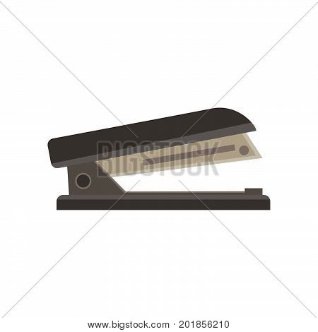 Stapler vector illustration isolated icon office business clip design flat iron stapling paper