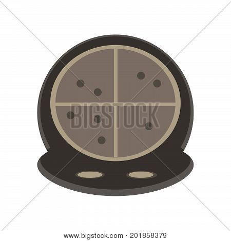 Radar vector screen background icon illustration sonar symbol. Military hud target search circle.