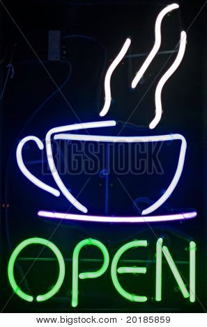 Open Coffee Sign