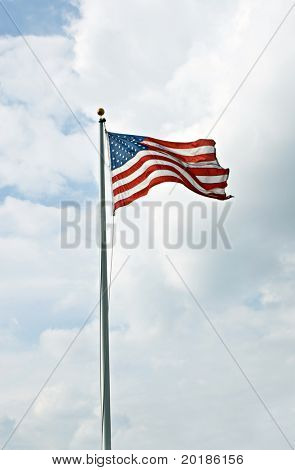 Waving American Flag