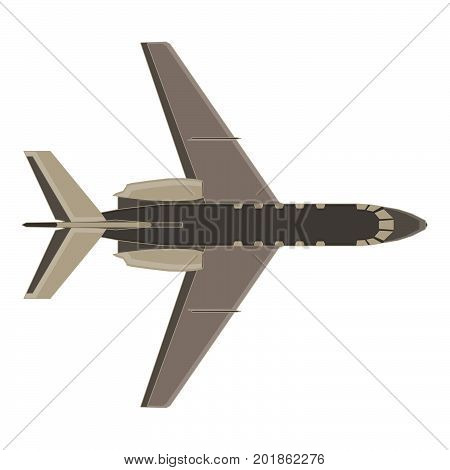 Aircraft icon vector plane isolated flight travel jet illustration silhouette aviation flat air