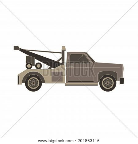 tow truck vector flat icon for transportation faults and emergency cars illustration isolated on white background