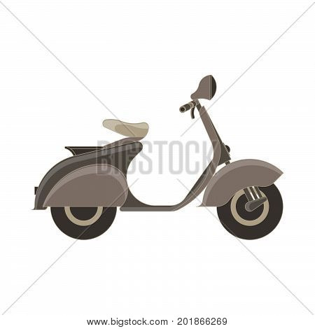 Vector scooter flat icon isolated side view. Bike illustration vehicle city design moped transport motorcycle