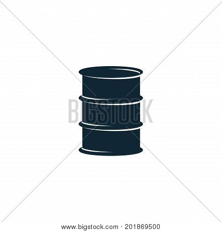 vector oil fuel barrel simple flat icon pictogram isolated on a white background. Gas oil fuel, energy power petroleum industry symbol, sign