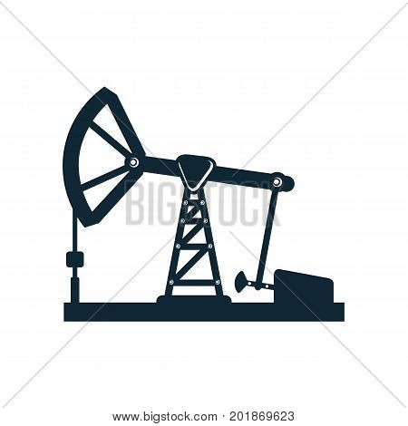 vector oil fuel pump, derrick simple flat icon pictogram isolated on a white background. Gas oil fuel, energy power industry symbol, sign