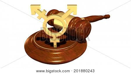 Transgender Symbol Legal Concept 3D Illustration
