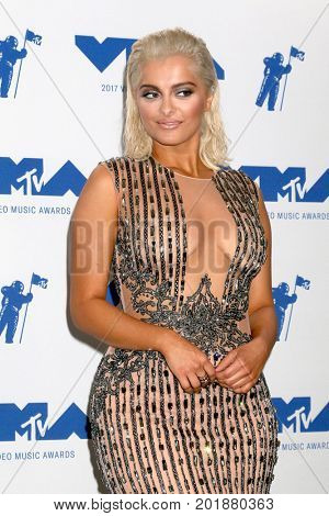 LOS ANGELES - AUG 27:  Bebe Rexha at the MTV Video Music Awards 2017 at The Forum on August 27, 2017 in Inglewood, CA