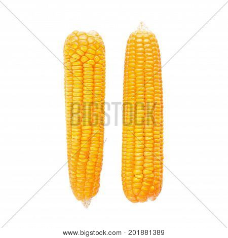 Dried Corn Maize Isolated On The White Background